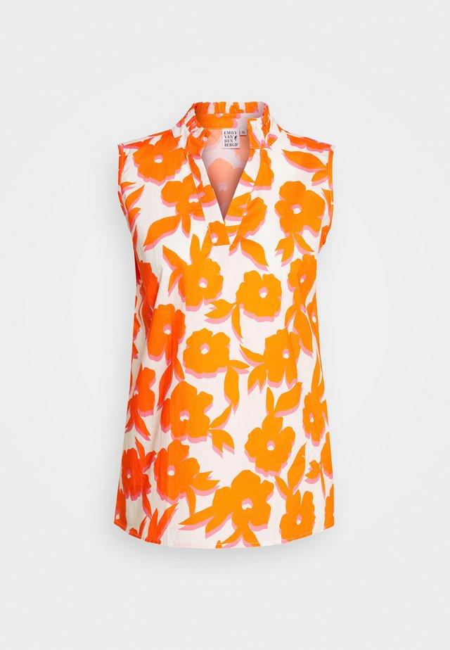 BLOUSE - Camicetta - white/orange