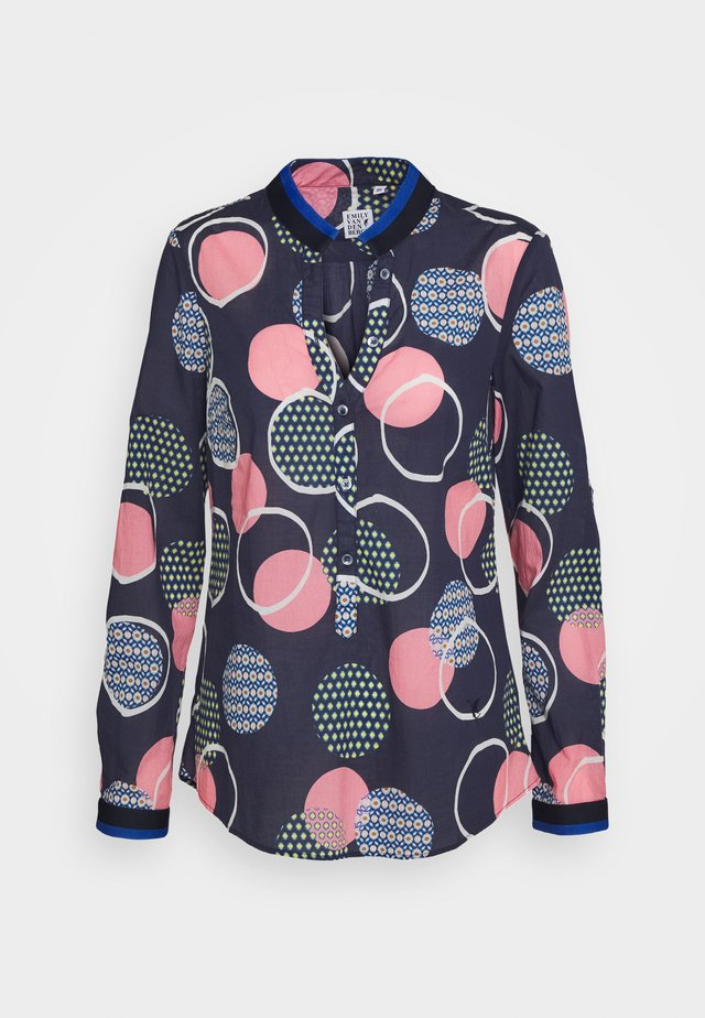 Bluse - navy/multicolour