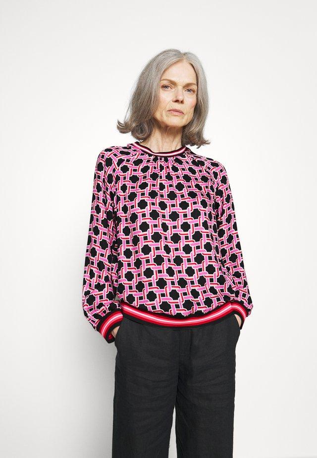 Bluse - black/pink
