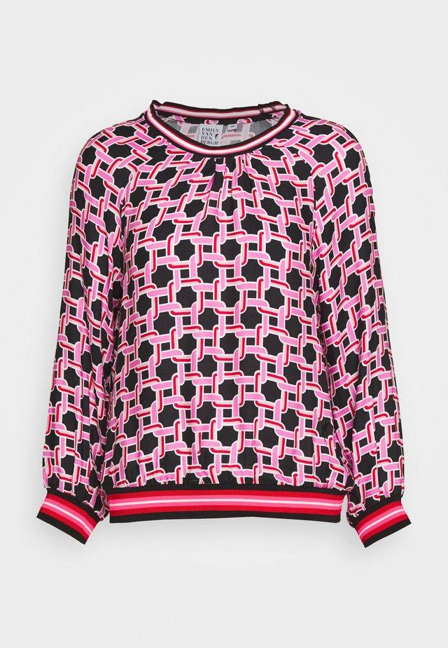 Blouse - black/pink