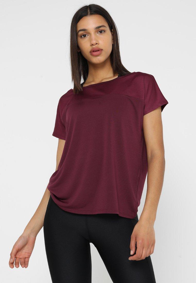 Even&Odd active - T-shirts - grape wine