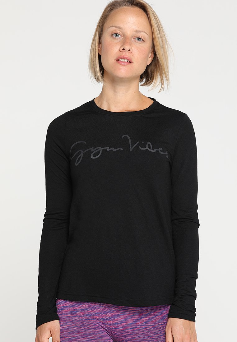 Even&Odd active - T-shirt à manches longues - jet black