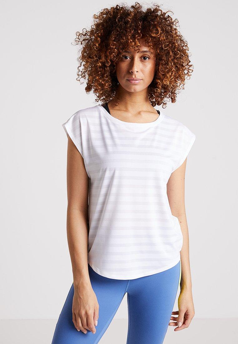 Even&Odd active - Camiseta estampada - white