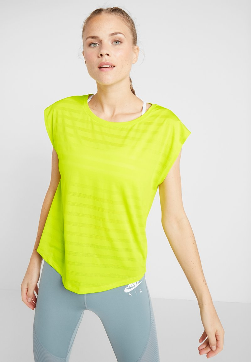 Even&Odd active - Camiseta estampada - light yellow