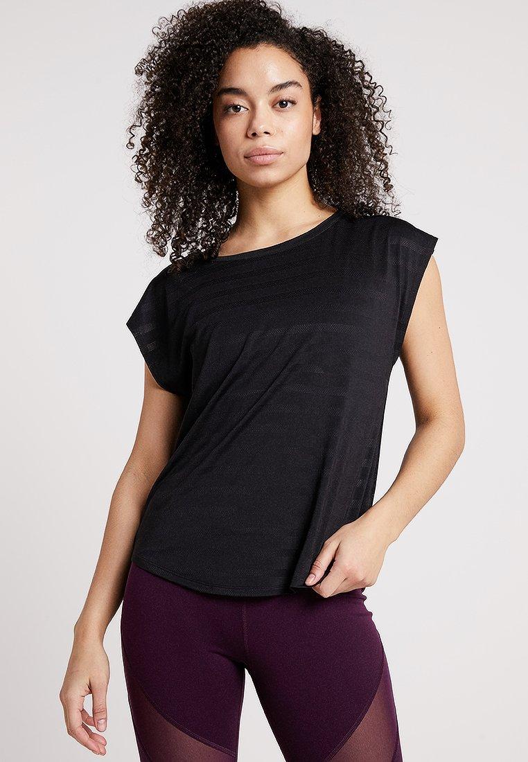 Even&Odd active - T-shirt con stampa - black