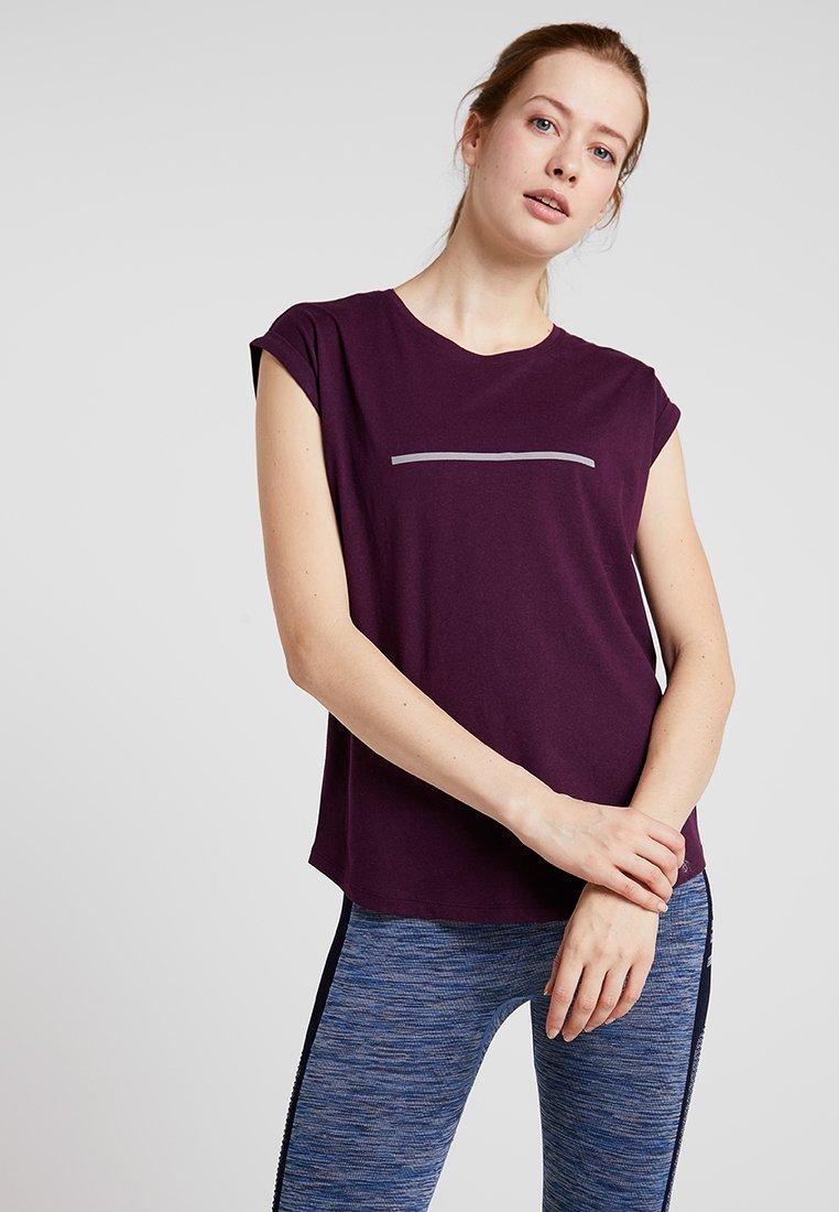 Even&Odd active - T-shirt con stampa - purple