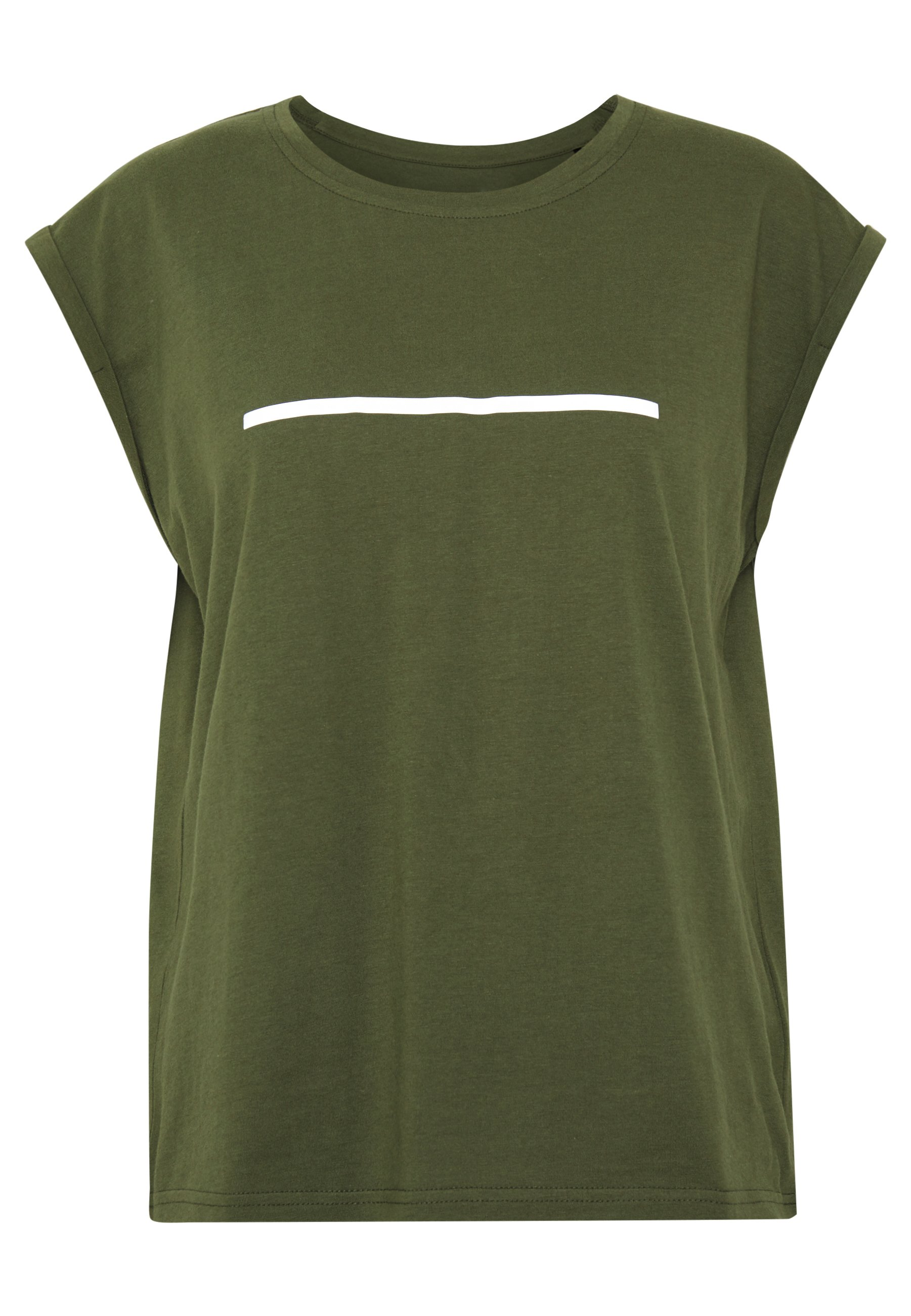 Even&Odd active T-shirt z nadrukiem - olive