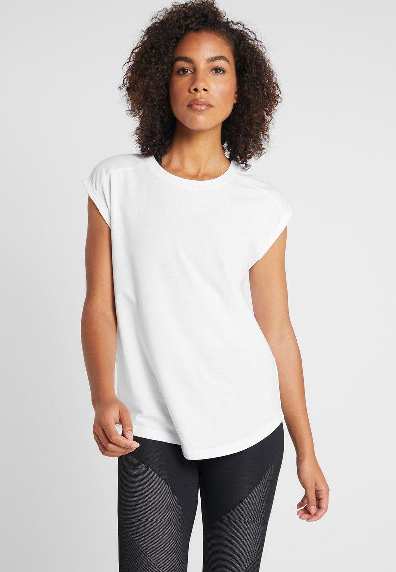 Even&Odd active - 2 PACK - T-shirt basic - white/black