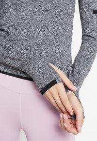 Even&Odd active - SEAMLESS LONG SLEEVE - Long sleeved top - grey melange - 5