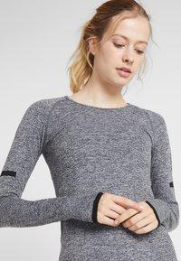 Even&Odd active - SEAMLESS LONG SLEEVE - Long sleeved top - grey melange - 3