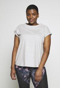 Even&Odd active - T-shirts basic - mottled grey - 0