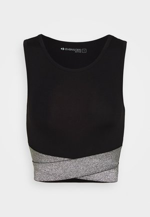 TWIST CROP TANK - Top - silver/white/black
