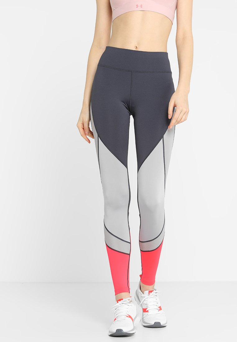 Even&Odd active - Tights - neonpink/light grey