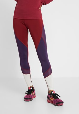 Leggings - bordeaux/multicolor