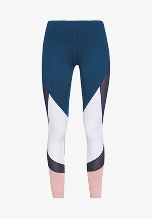 Tights - dark blue/pink/light grey