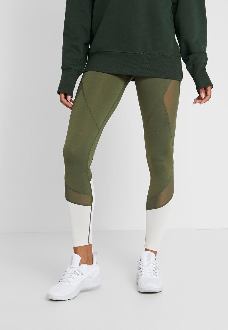 Even&Odd active - Leggings - dark green/multicolor
