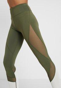 Even&Odd active - Leggings - dark green/multicolor - 3