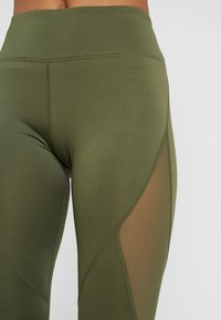 Even&Odd active - Leggings - dark green/multicolor - 5