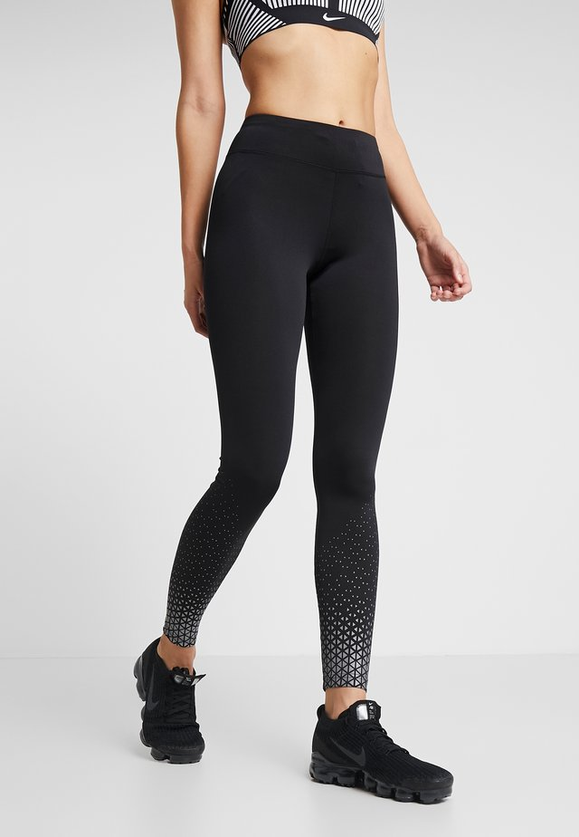 Leggings - silver/black