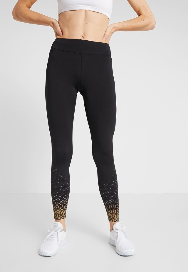 Leggings - gold/black