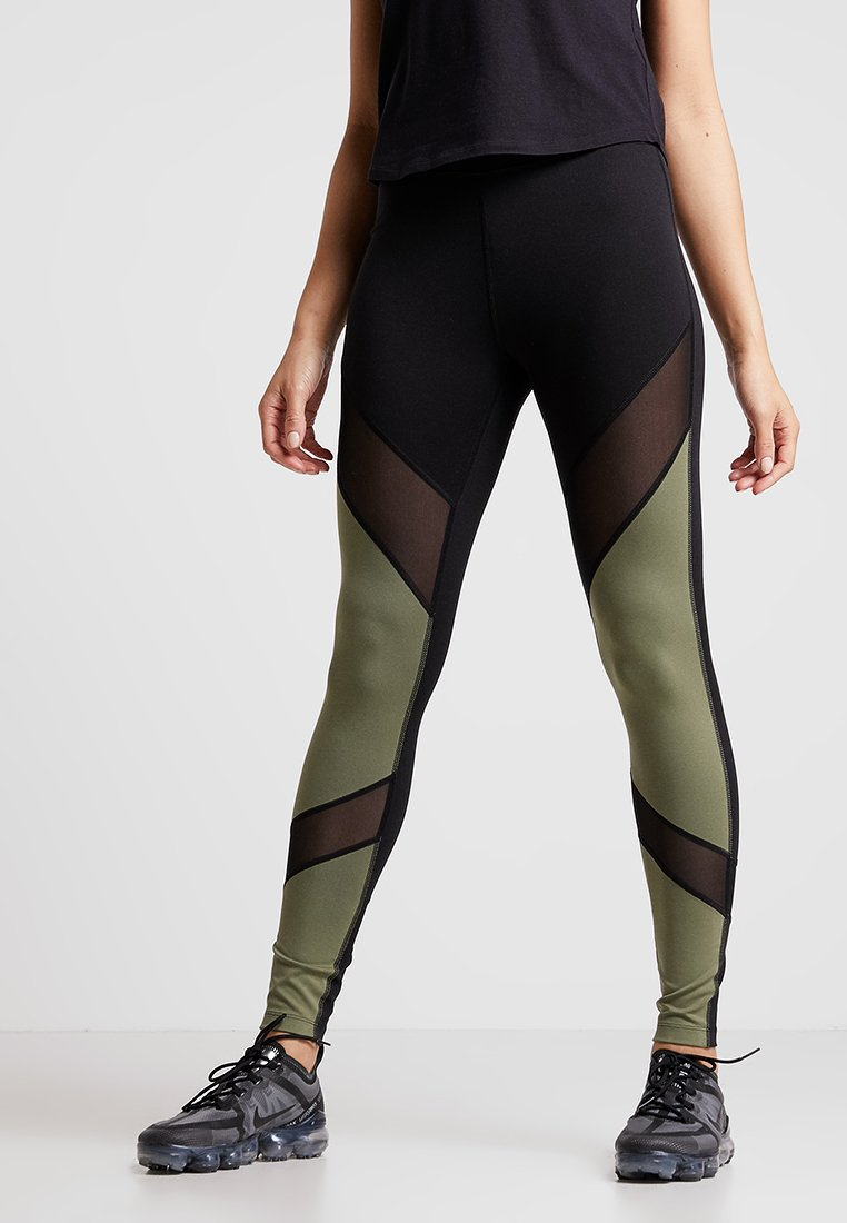 Even&Odd active - Leggings - khaki/black