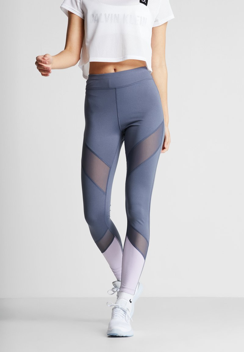 Even&Odd active - Collants - grey/lilac