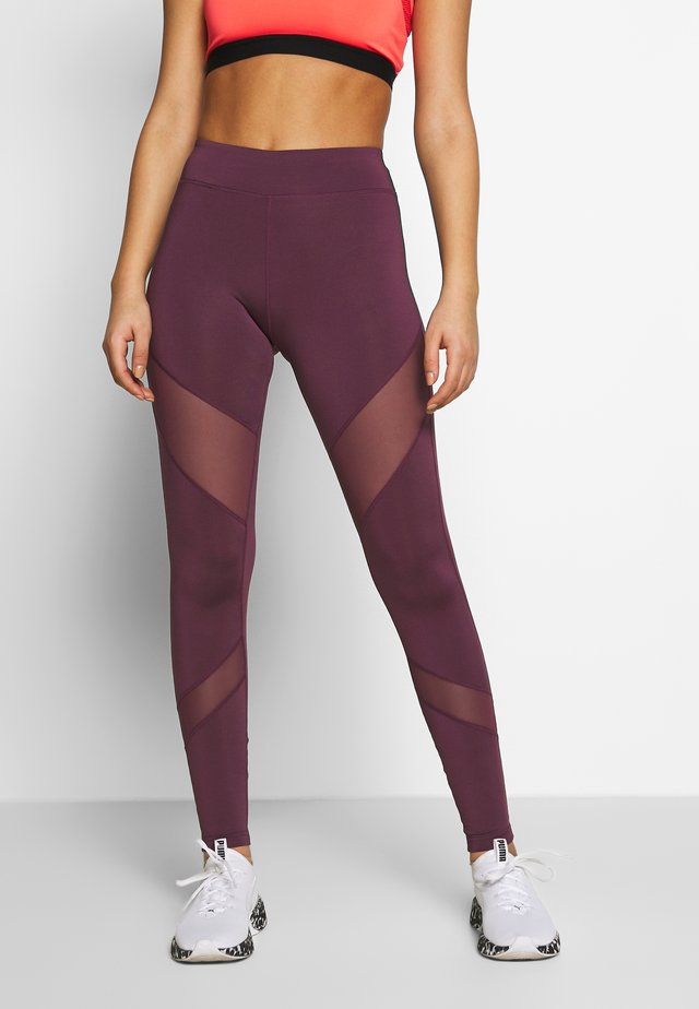 Leggings - dark red