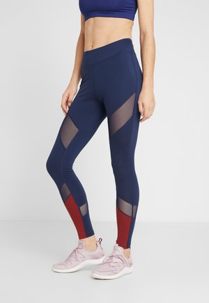 Legginsy - blue/bordeaux