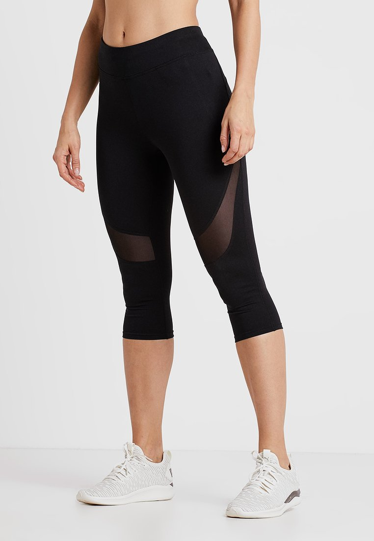 Even&Odd active - 3/4 sports trousers - black