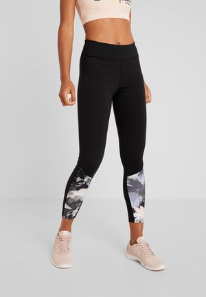 Legginsy - black/multicoloured