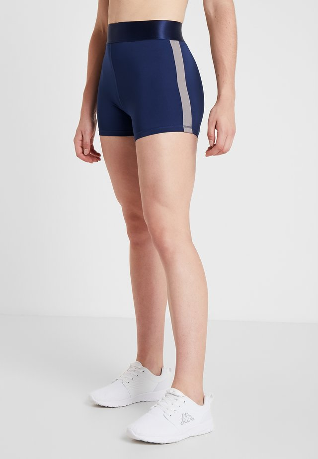 Tights - blue/silver