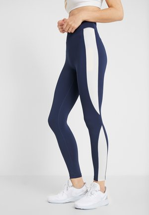Legginsy - off-white/blue