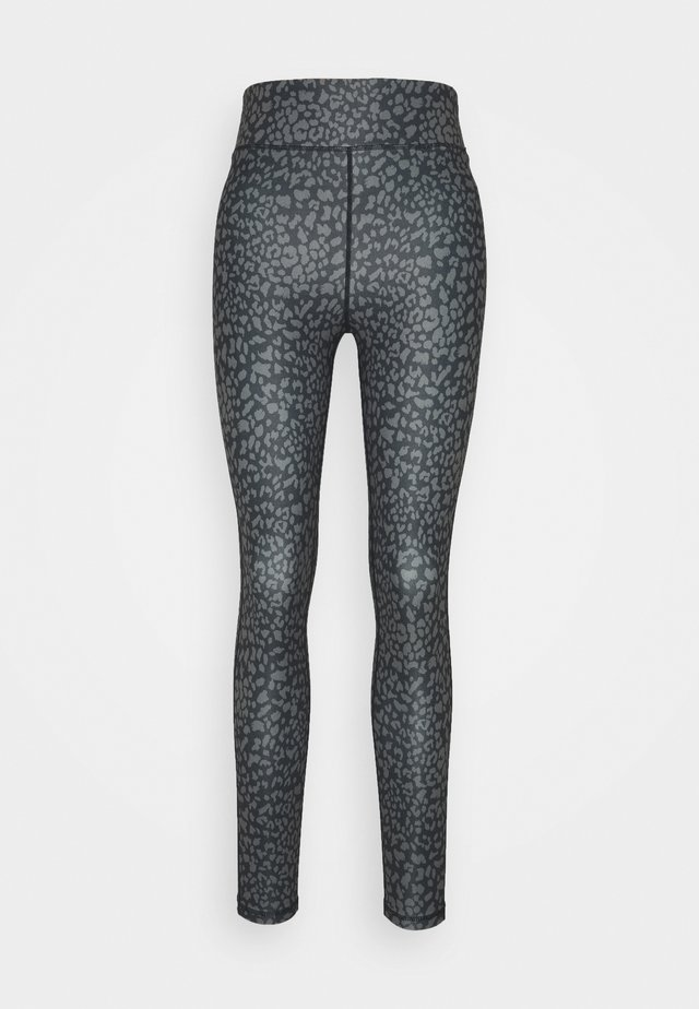 Leggings - black/cognac