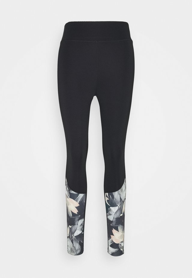 Leggings - blue/black
