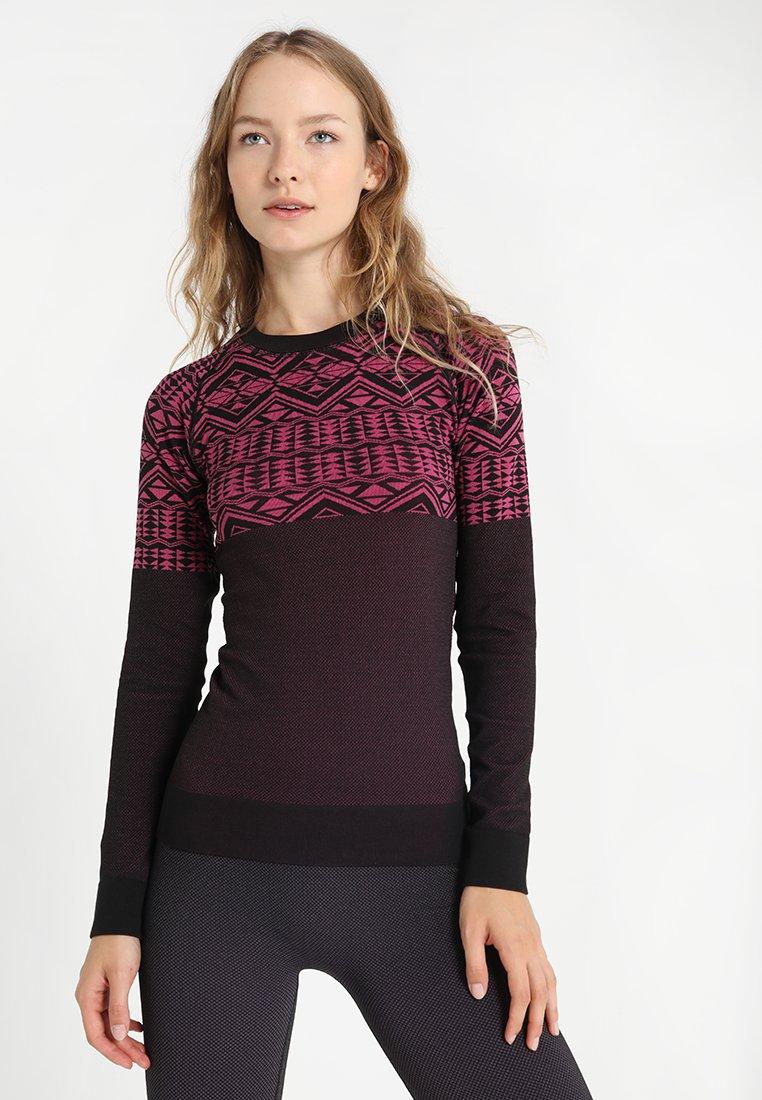 Even&Odd active - Undershirt - black/pink