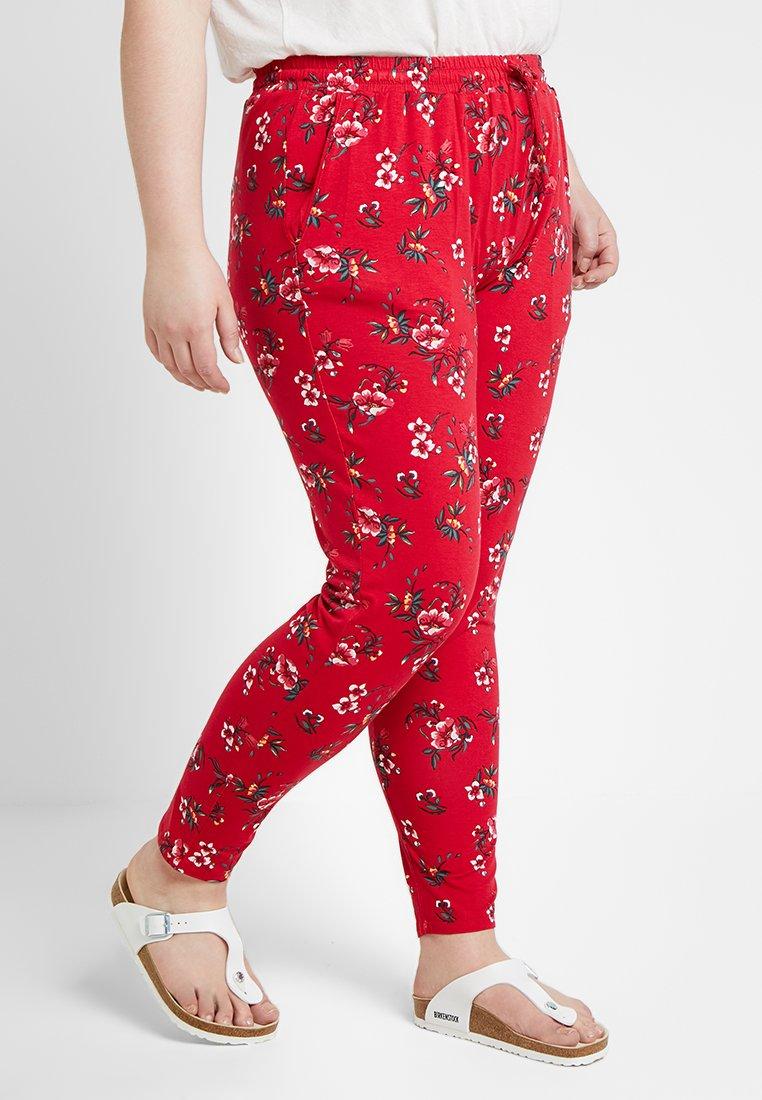 Even&Odd Curvy - Stoffhose - red