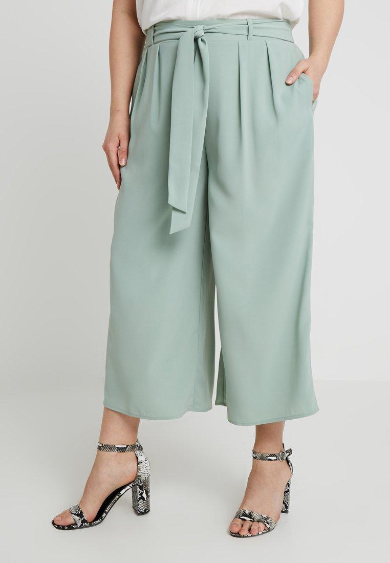 Even&Odd Curvy - Trousers - green
