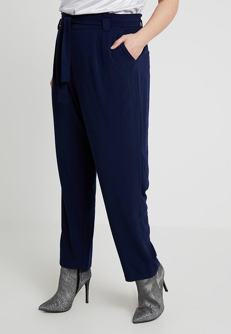 Even&Odd Curvy - Trousers - dark blue