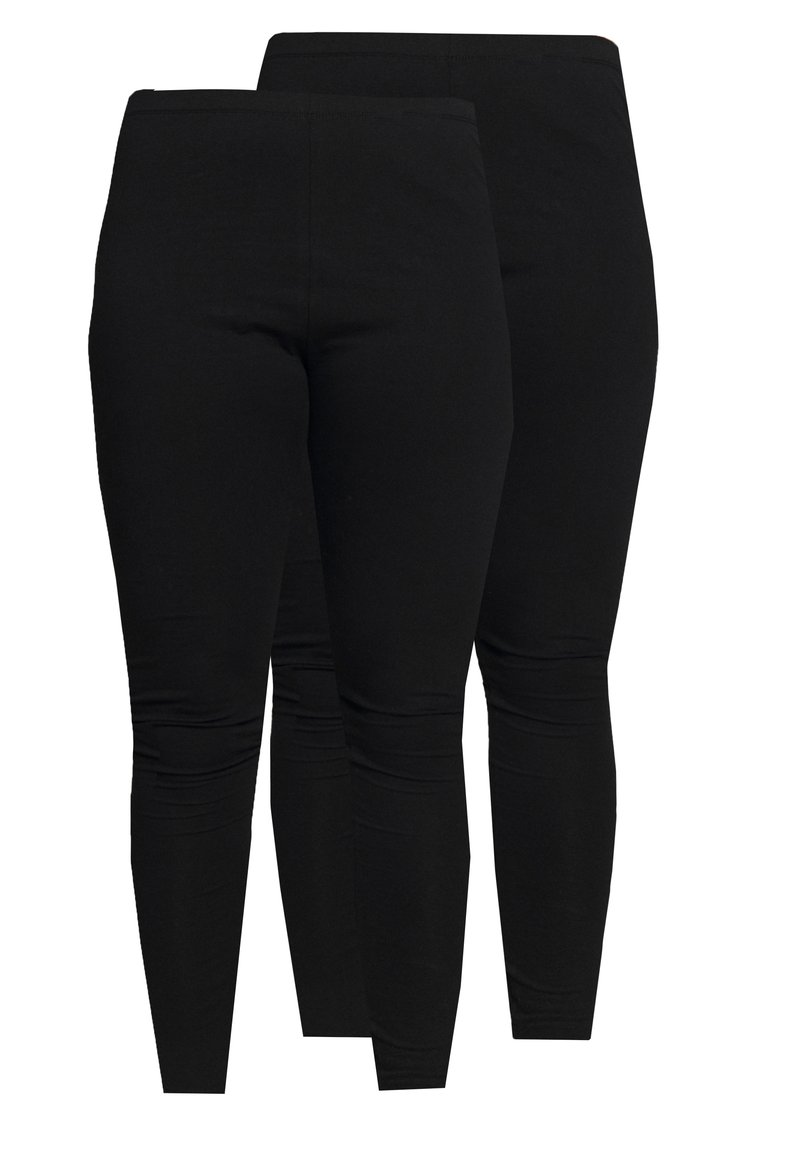 Even&Odd Curvy - 2 PACK - Leggings - Trousers - black