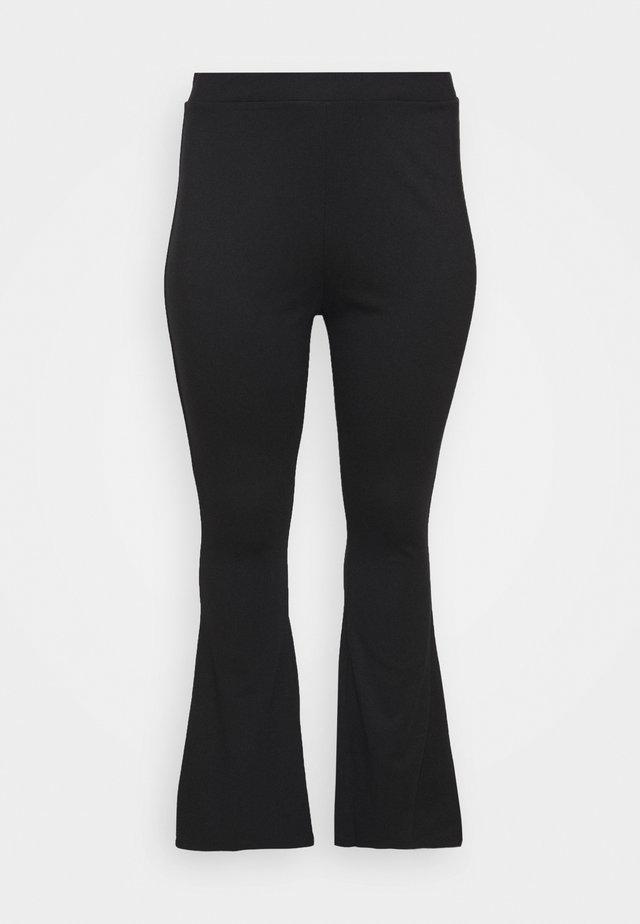 SEMI FLARED - Leggings - Trousers - black