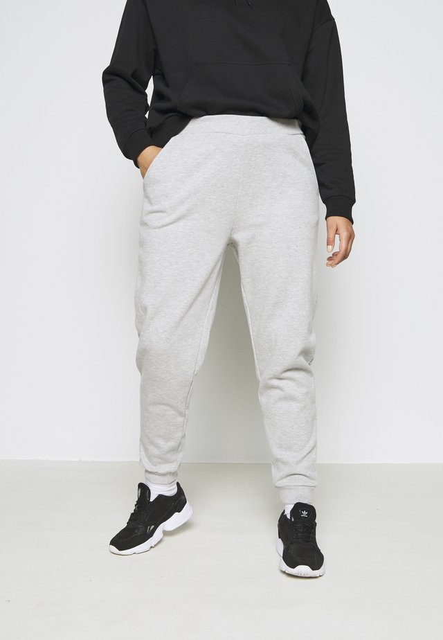 2er PACK - REGULAR FIT JOGGERS - Joggebukse - black/light grey