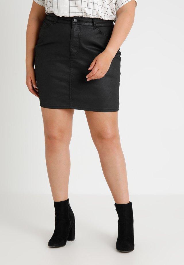 Denim skirt - black