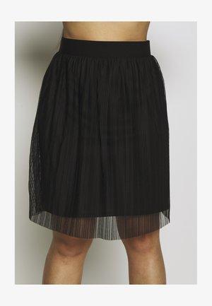 PLISSEE SKIRT - Jupe trapèze - black