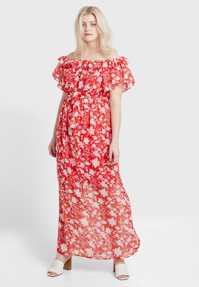 Even&Odd Curvy - Maxi dress - white/red