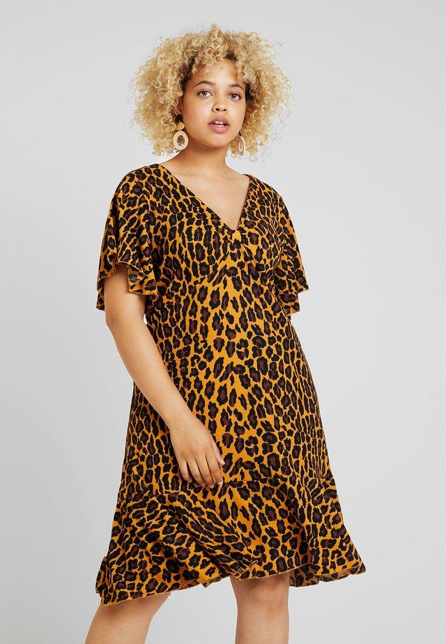 Žerzejové šaty - yellow/brown
