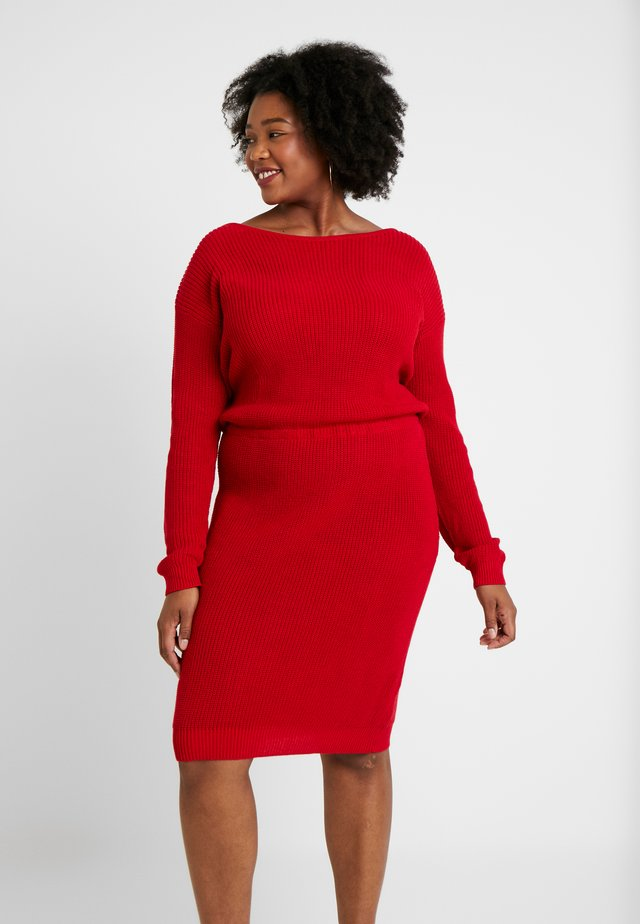 Gebreide jurk - red