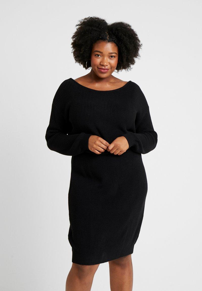 Even&Odd Curvy - Vestido de punto - black