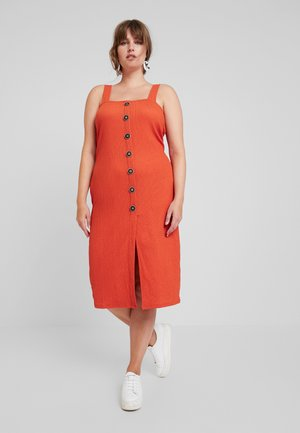 Shirt dress - rust