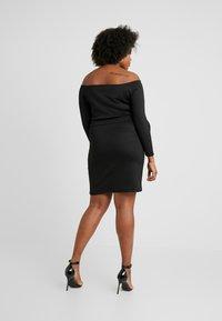 Even&Odd Curvy - Pouzdrové šaty - black - 2