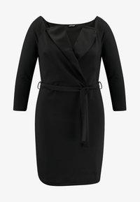 Even&Odd Curvy - Pouzdrové šaty - black - 4